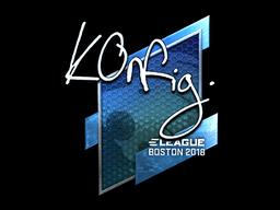Наклейка | k0nfig (металлическая) | Бостон 2018