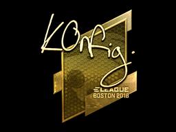 Наклейка | k0nfig (золотая) | Бостон 2018