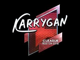 Наклейка | karrigan (металлическая) | Бостон 2018