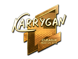 Наклейка | karrigan (золотая) | Бостон 2018