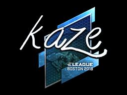 Sticker   Kaze (Foil)   Boston 2018