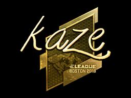 Sticker   Kaze (Gold)   Boston 2018