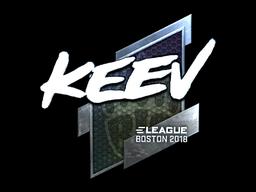Наклейка | keev (металлическая) | Бостон 2018