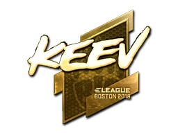 Наклейка | keev (золотая) | Бостон 2018