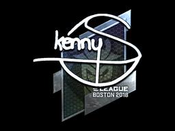 Наклейка | kennyS (металлическая) | Бостон 2018