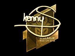 Наклейка | kennyS (золотая) | Бостон 2018