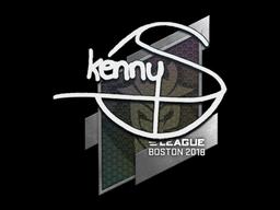 Наклейка | kennyS | Бостон 2018