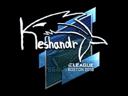 Наклейка | keshandr (металлическая) | Бостон 2018