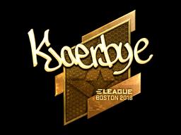 Наклейка | Kjaerbye (золотая) | Бостон 2018