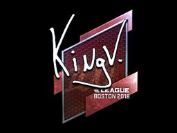 Наклейка | kNgV- (металлическая) | Бостон 2018