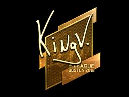 Наклейка | kNgV- (золотая) | Бостон 2018