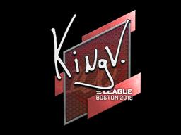Наклейка | kNgV- | Бостон 2018
