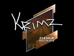 Наклейка | KRIMZ (металлическая) | Бостон 2018
