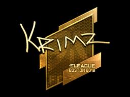 Наклейка | KRIMZ (золотая) | Бостон 2018