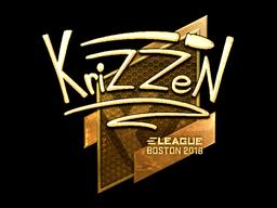 Наклейка | KrizzeN (золотая) | Бостон 2018