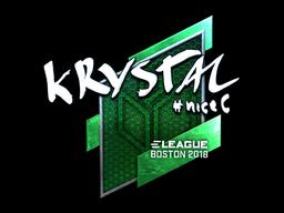 Наклейка | kRYSTAL (металлическая) | Бостон 2018