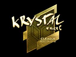 Наклейка | kRYSTAL (золотая) | Бостон 2018