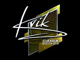 Наклейка | Kvik (металлическая) | Бостон 2018