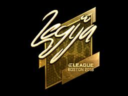 Наклейка | LEGIJA (золотая) | Бостон 2018
