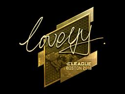 Sticker   LoveYY (Gold)   Boston 2018
