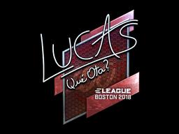 Наклейка | LUCAS1 (металлическая) | Бостон 2018