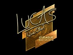 Наклейка | LUCAS1 (золотая) | Бостон 2018
