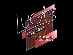 Наклейка | LUCAS1 | Бостон 2018