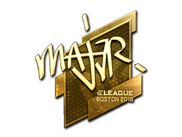 Наклейка | MAJ3R (золотая) | Бостон 2018