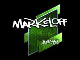 Наклейка | markeloff (металлическая) | Бостон 2018