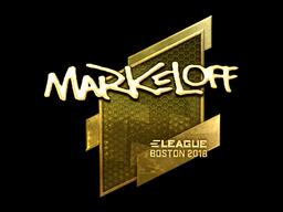 Наклейка | markeloff (золотая) | Бостон 2018