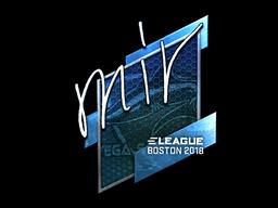 Наклейка | mir (металлическая) | Бостон 2018