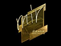 Наклейка | mir (золотая) | Бостон 2018