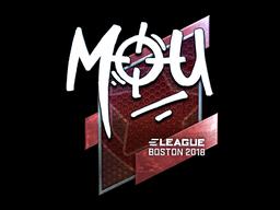 Наклейка | mou (металлическая) | Бостон 2018