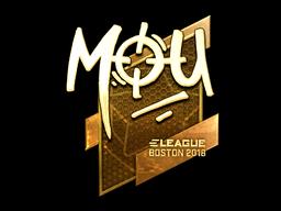 Наклейка | mou (золотая) | Бостон 2018