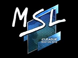Наклейка | MSL (металлическая) | Бостон 2018