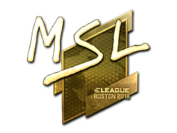 Наклейка | MSL (золотая) | Бостон 2018