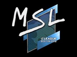 Наклейка | MSL | Бостон 2018