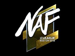 Наклейка | NAF (металлическая) | Бостон 2018