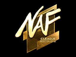 Наклейка | NAF (золотая) | Бостон 2018