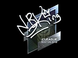 Наклейка | NBK- (металлическая) | Бостон 2018