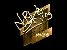 Наклейка | NBK- (золотая) | Бостон 2018