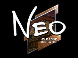Наклейка | NEO (металлическая) | Бостон 2018