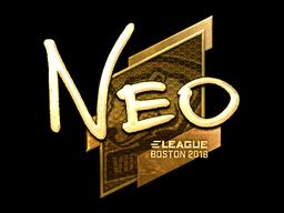 Наклейка | NEO (золотая) | Бостон 2018