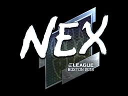 Наклейка | nex (металлическая) | Бостон 2018