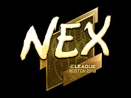 Наклейка | nex (золотая) | Бостон 2018