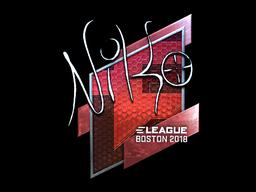 Наклейка | NiKo (металлическая) | Бостон 2018