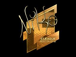 Наклейка | NiKo (золотая) | Бостон 2018