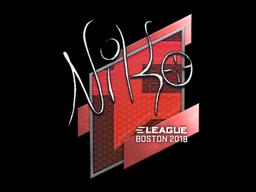 Наклейка | NiKo | Бостон 2018