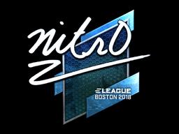 Наклейка | nitr0 (металлическая) | Бостон 2018