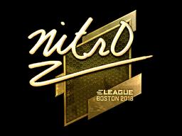 Наклейка | nitr0 (золотая) | Бостон 2018